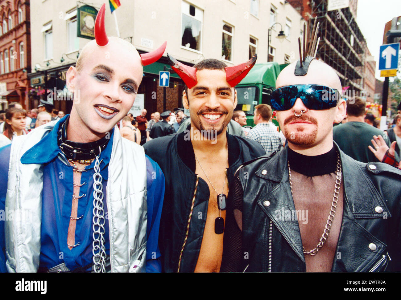 Revellers at Mardis Gras. 25th August 1995. - Stock Image