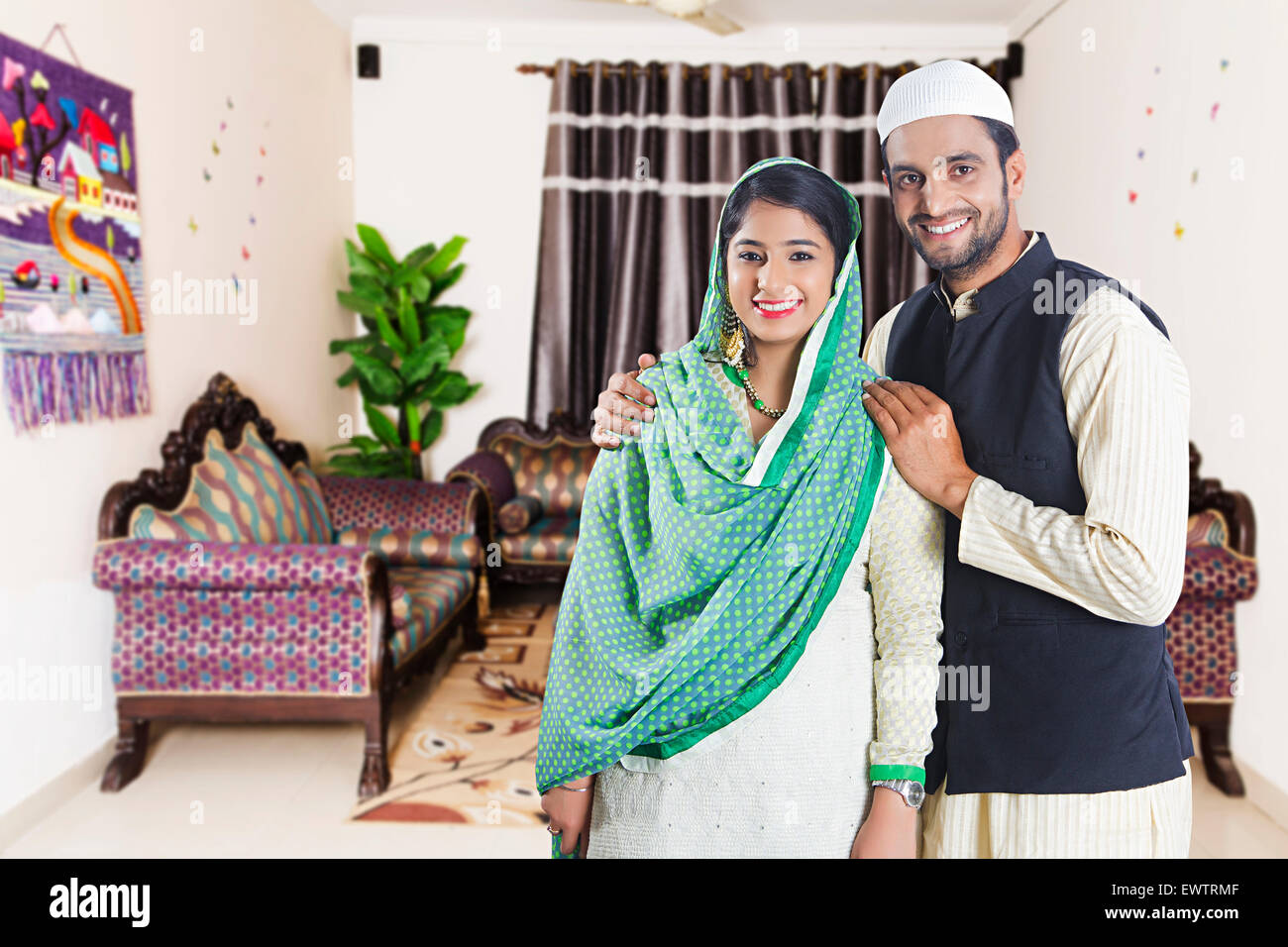 2 indian Muslim Married Couple Stock Photo: 84753327 - Alamy