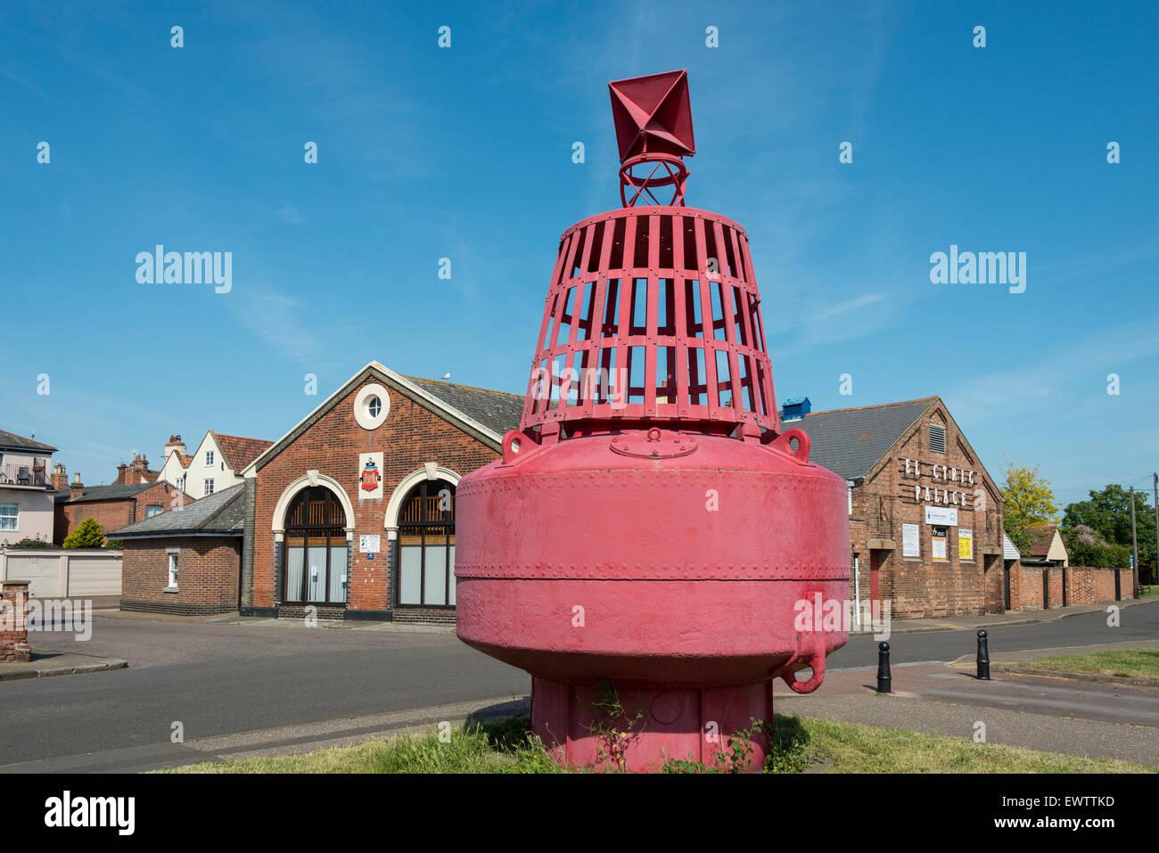 Old Harwich buoy, Wellington Road, Harwich, Essex, England, United Kingdom - Stock Image