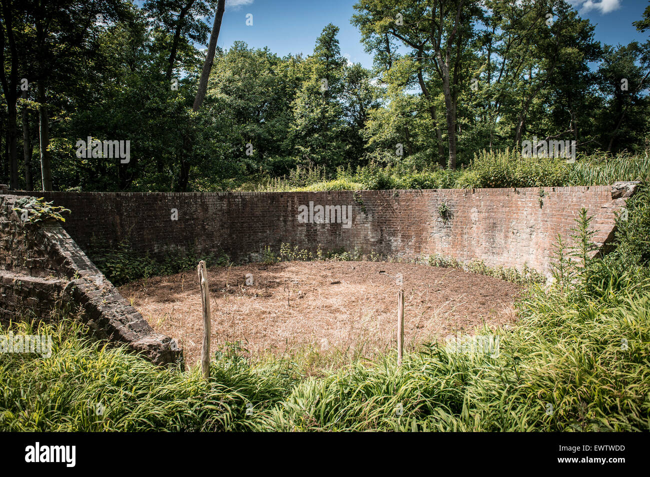 Abandoned buildings at the Royal Gunpowder Mills in Waltham Abbey - Stock Image