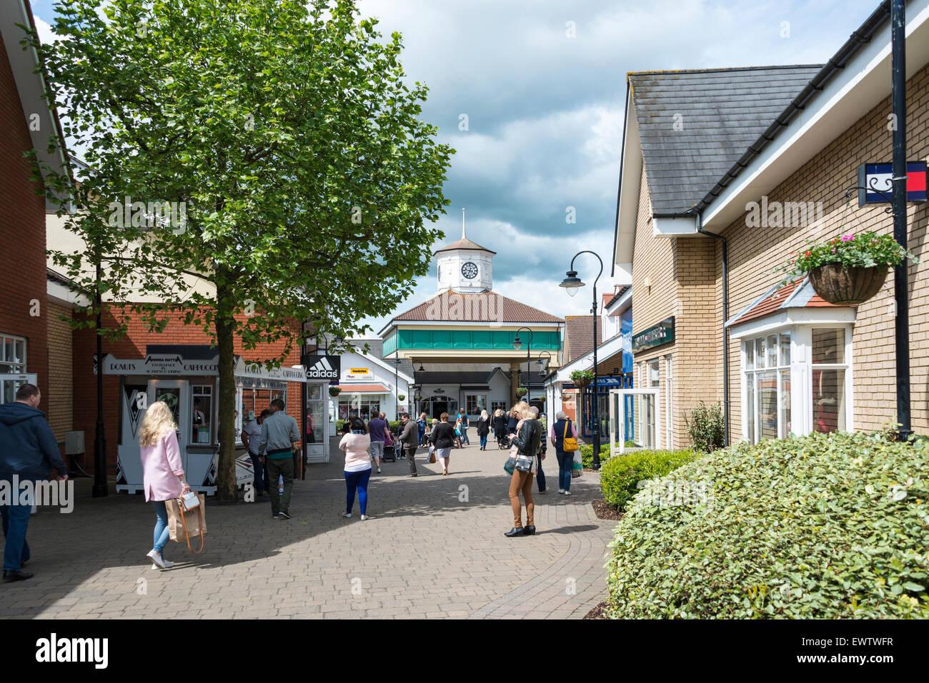 Freeport Braintree Outlet Shopping Village, Braintree, Essex, England, United Kingdom - Stock Image