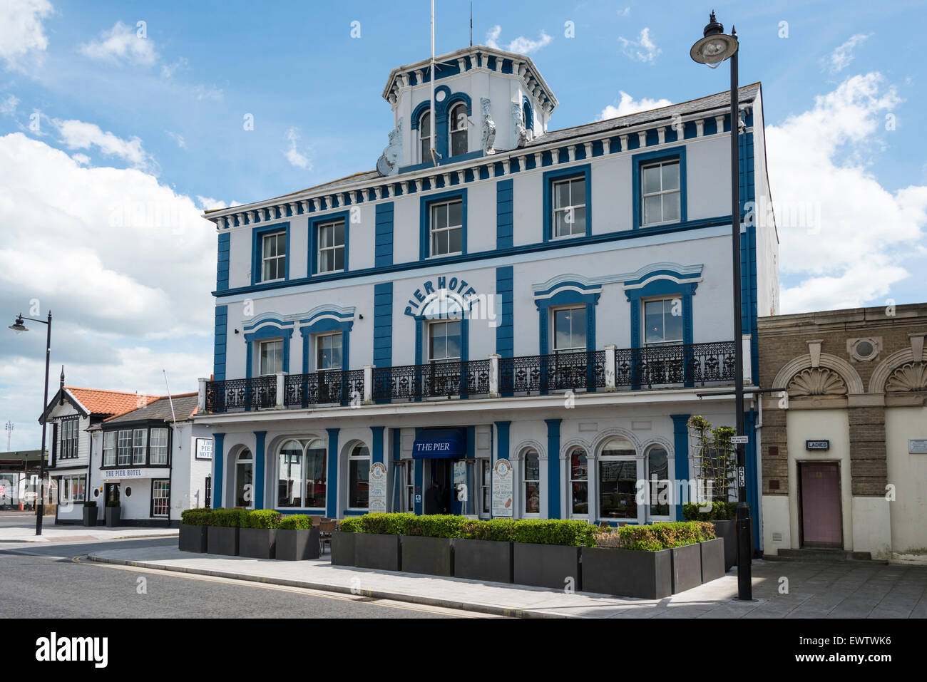 The Pier Hotel, The Quay, Harwich, Essex, England, United Kingdom - Stock Image