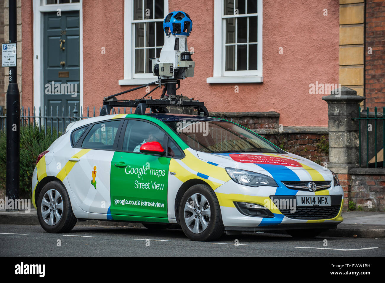 a google street view car on the roads of bristol in the. Black Bedroom Furniture Sets. Home Design Ideas