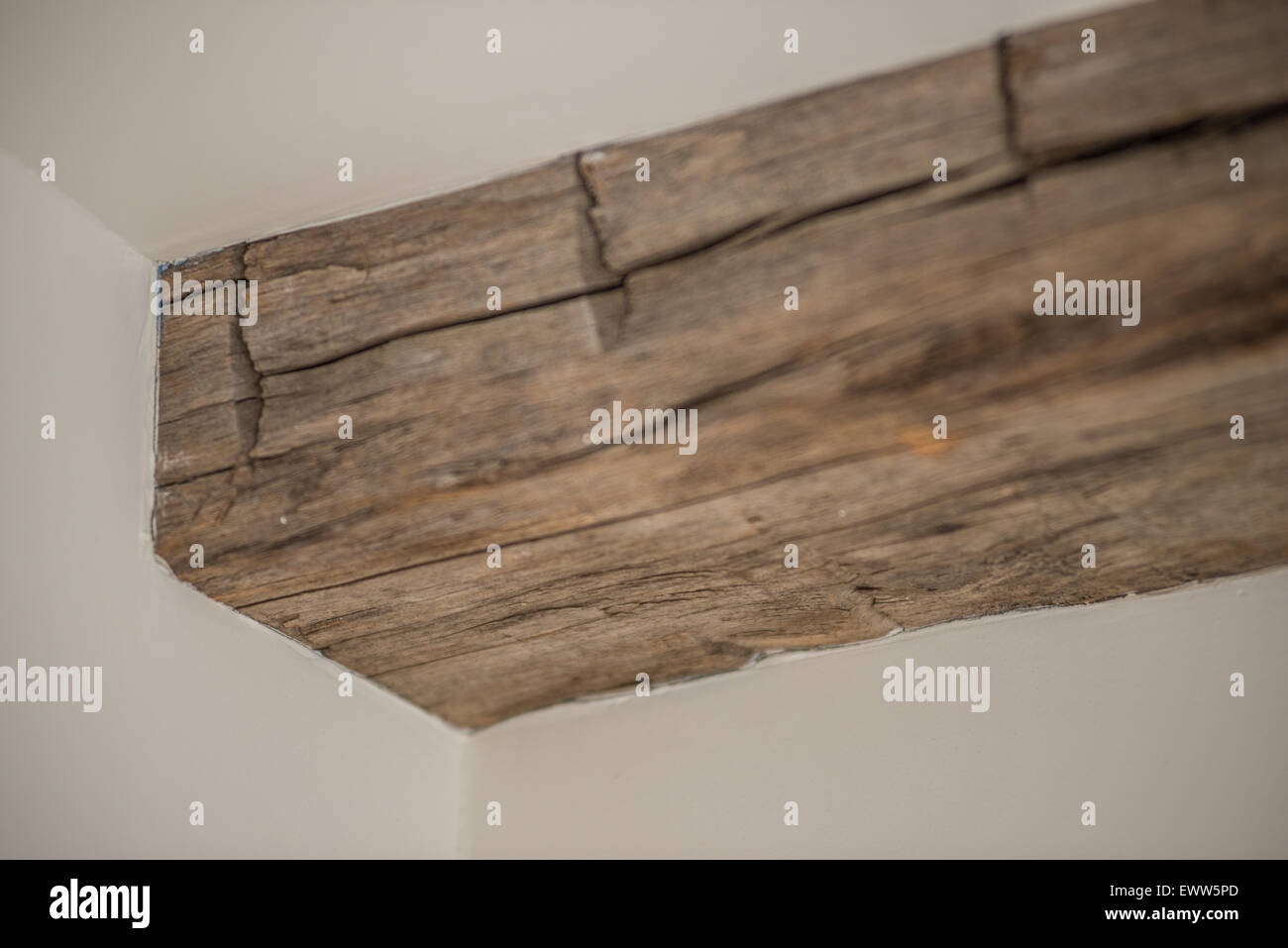 Distressed Rustic Country Style Wood Ceiling Beam Stock