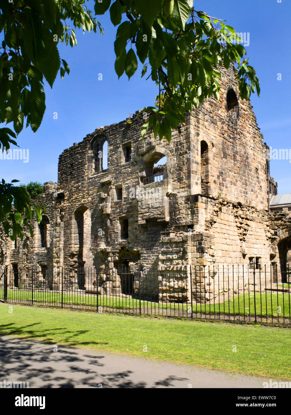 The Abbots Lodging at Kirkstall Abbey Kirkstall Leeds West Yorkshire England - Stock Image