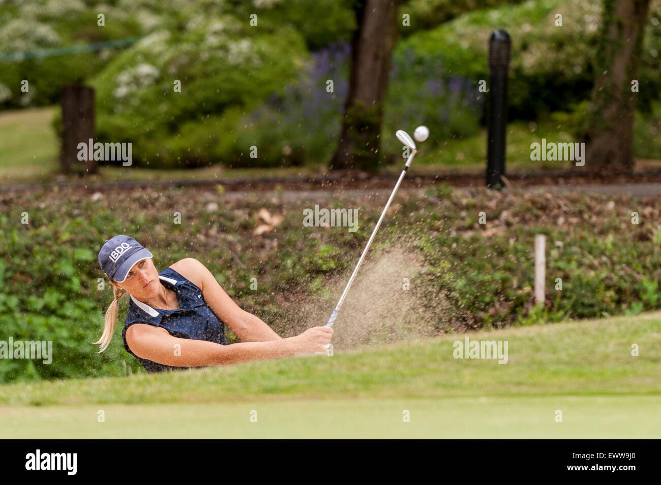 London, UK. 01 July 2015. Pro-am day for the ISPS HANDA Ladies European Masters at the Buckinghamshire golf course. - Stock Image