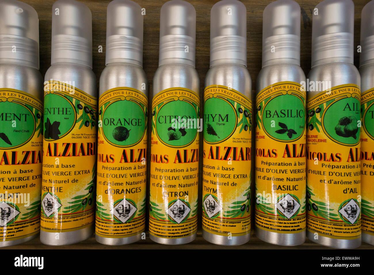 Nicolas Alziari Olive Oil Shop , Nice, Alpes Maritimes, Provence, French Riviera, Mediterranean, France, Europe, - Stock Image