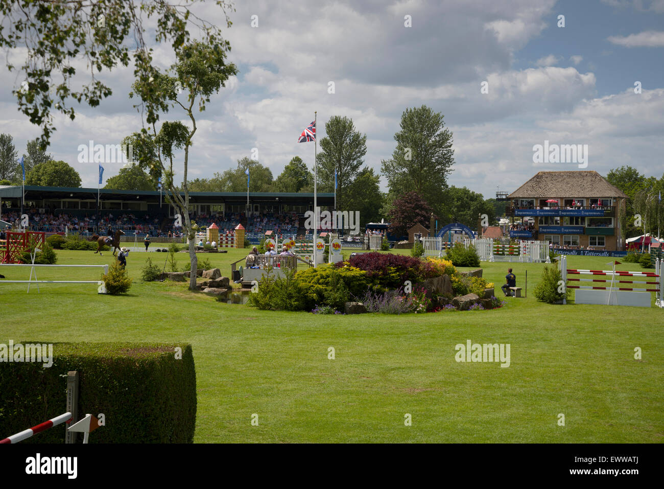 Hickstead Derby international horse jumping event in June 2015 - Stock Image