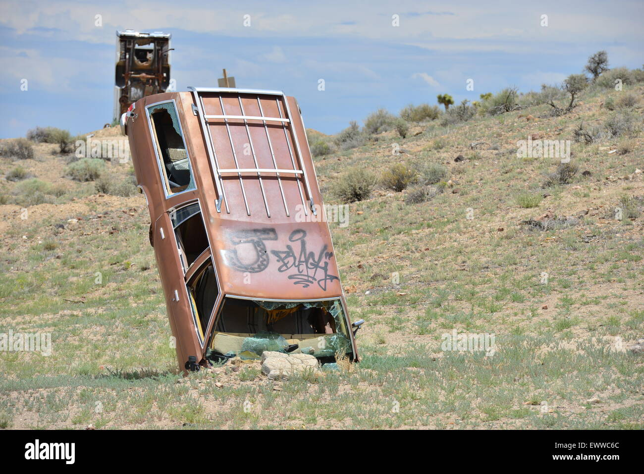 The Car Forest At Goldfield In Nevada Stock Photo Alamy
