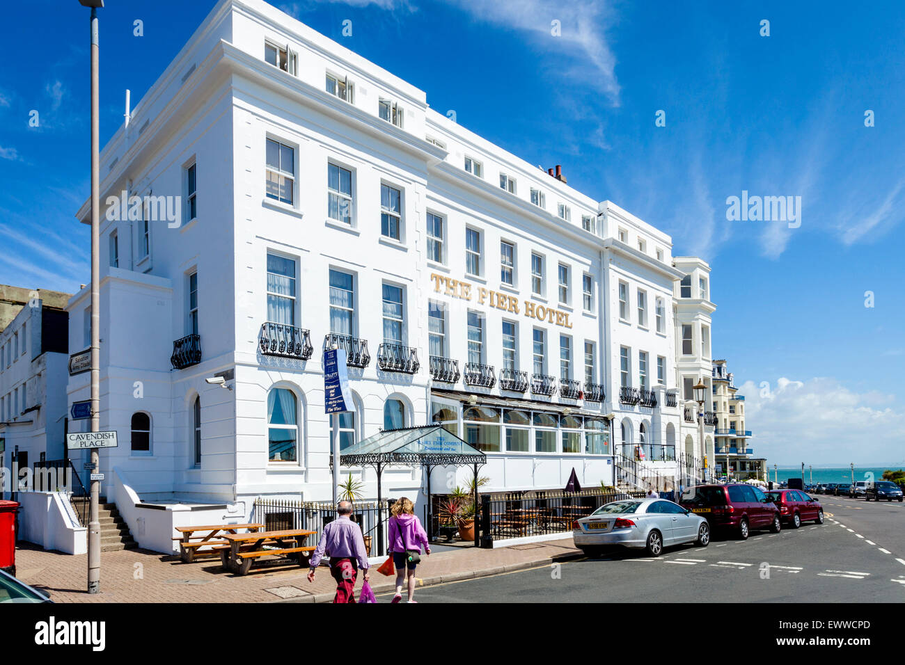 The Pier Hotel, Eastbourne, Sussex, UK - Stock Image