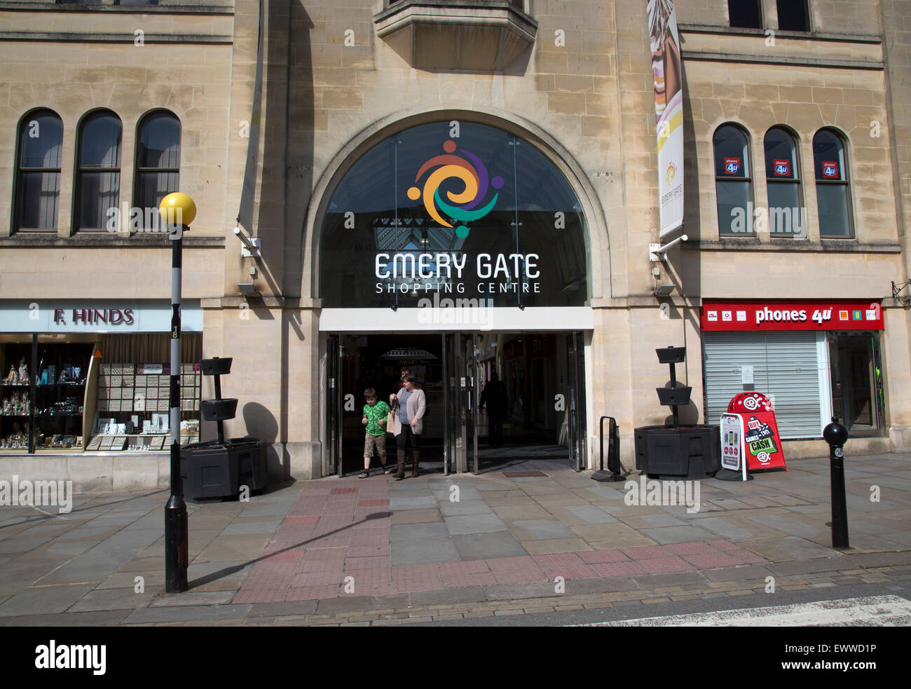 Emery Gate shopping centre in town centre, Chippenham, Wiltshire, England, UK - Stock Image