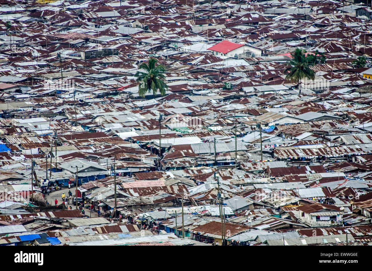 West Point, Monrovia, Liberia. - Stock Image