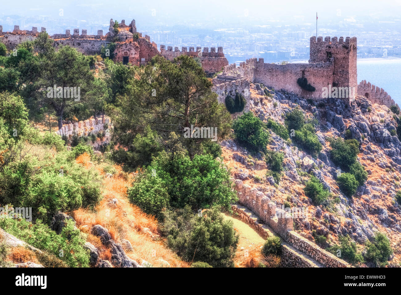 Alanya, Antalya, Anatlia, Turkey - Stock Image