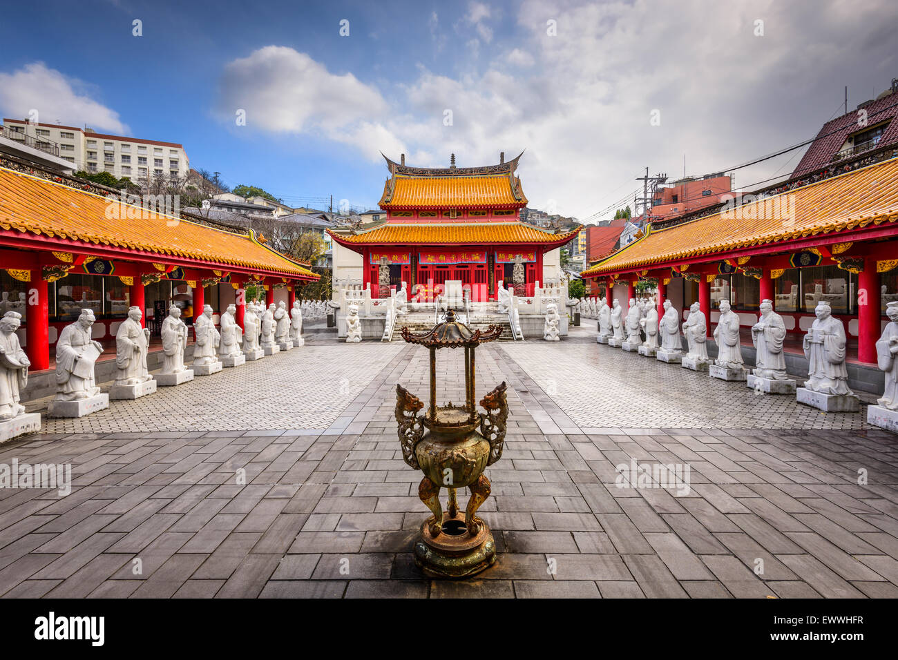 Nagasaki, Japan at Confucius Shrine. Stock Photo