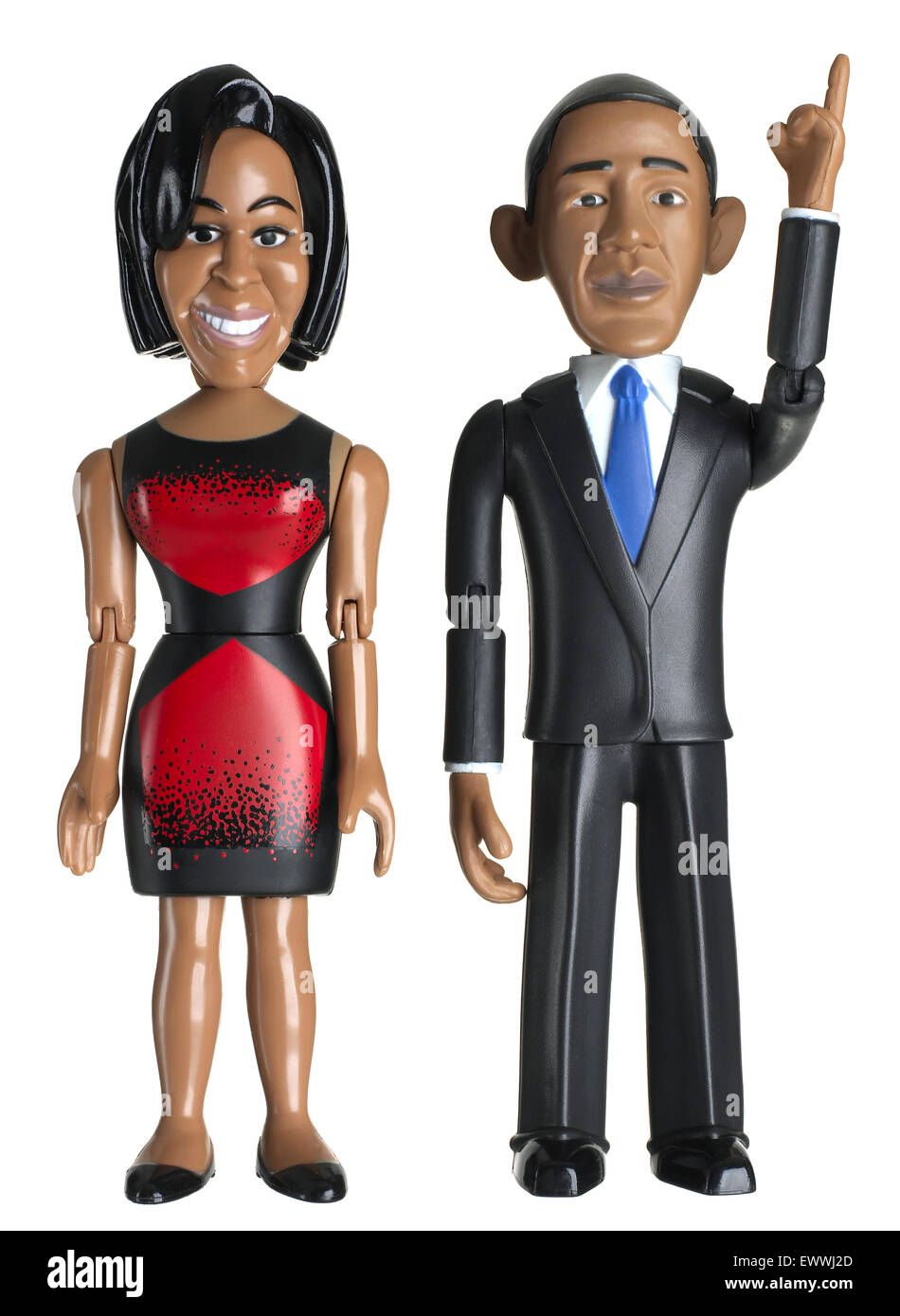 President Barack Obama and Michelle Obama doll - Stock Image