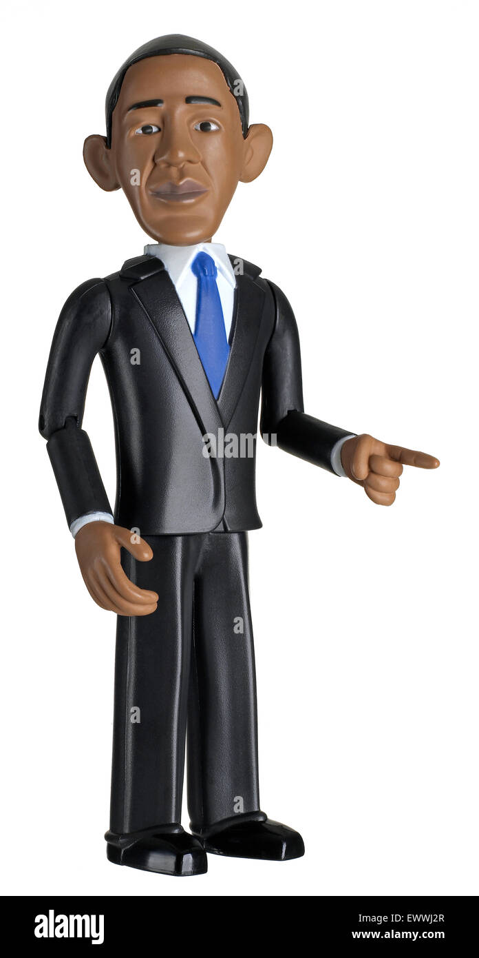 President Barack Obama doll - Stock Image