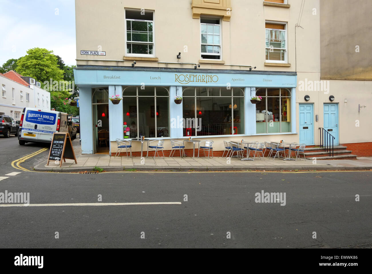 Rosemarino Award wining Italian cafe and restaurant in Bristol, BS8, - Stock Image