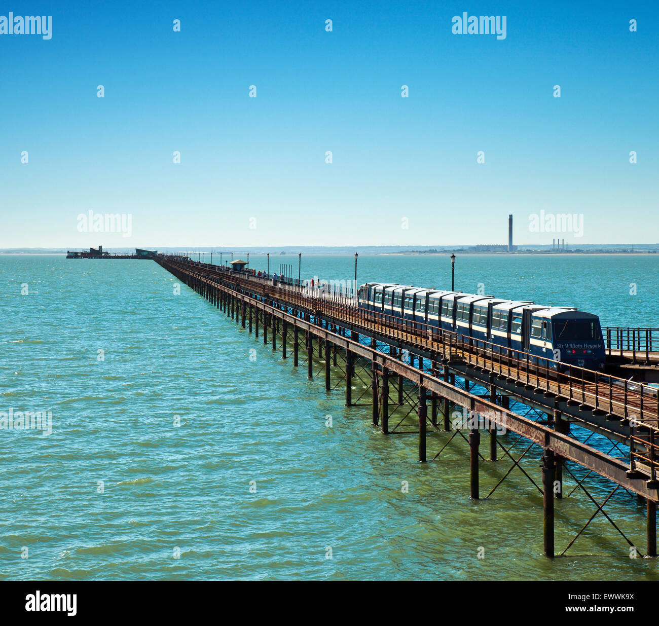 Southend Pier, the worlds longest at 1.34 miles. - Stock Image