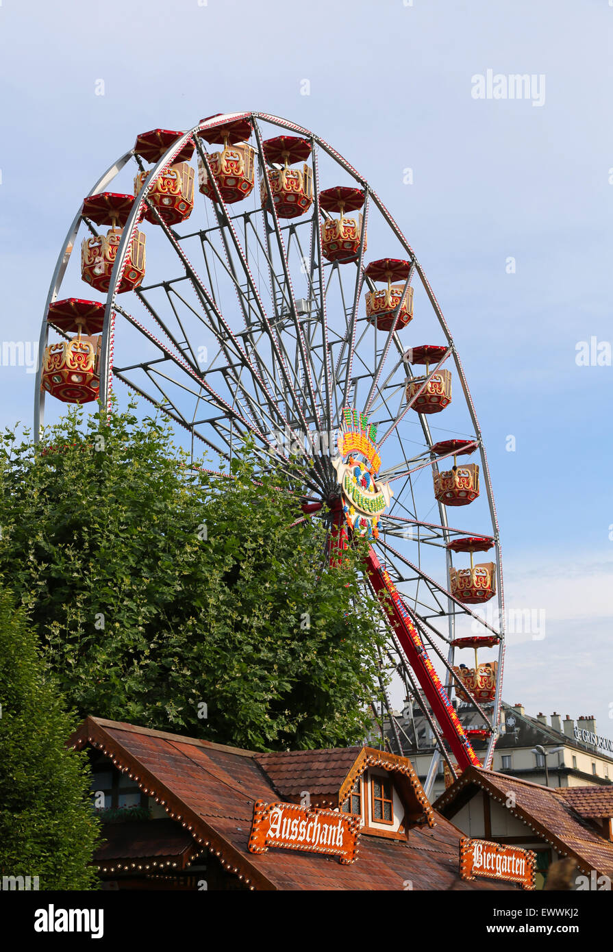 Giant wheel in Geneva, Switzerland Stock Photo