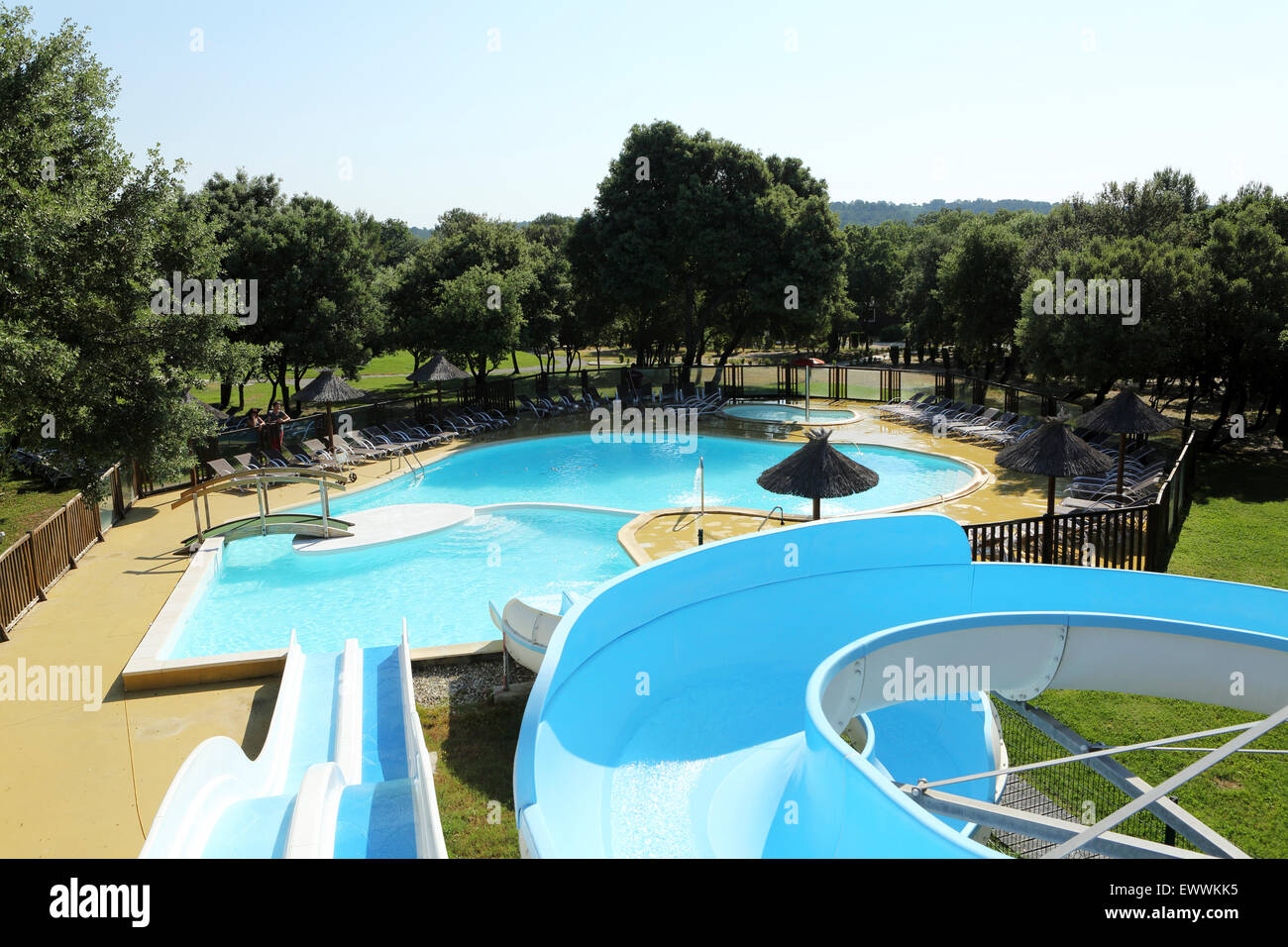 Waterslides stock photos waterslides stock images alamy for Swimming pools with waterslides