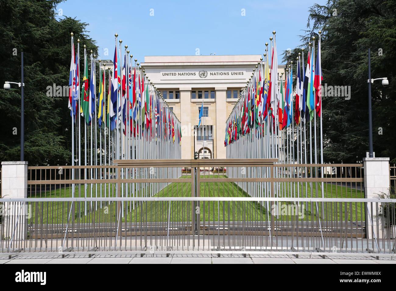 United Nations in Geneva, Switzerland Stock Photo