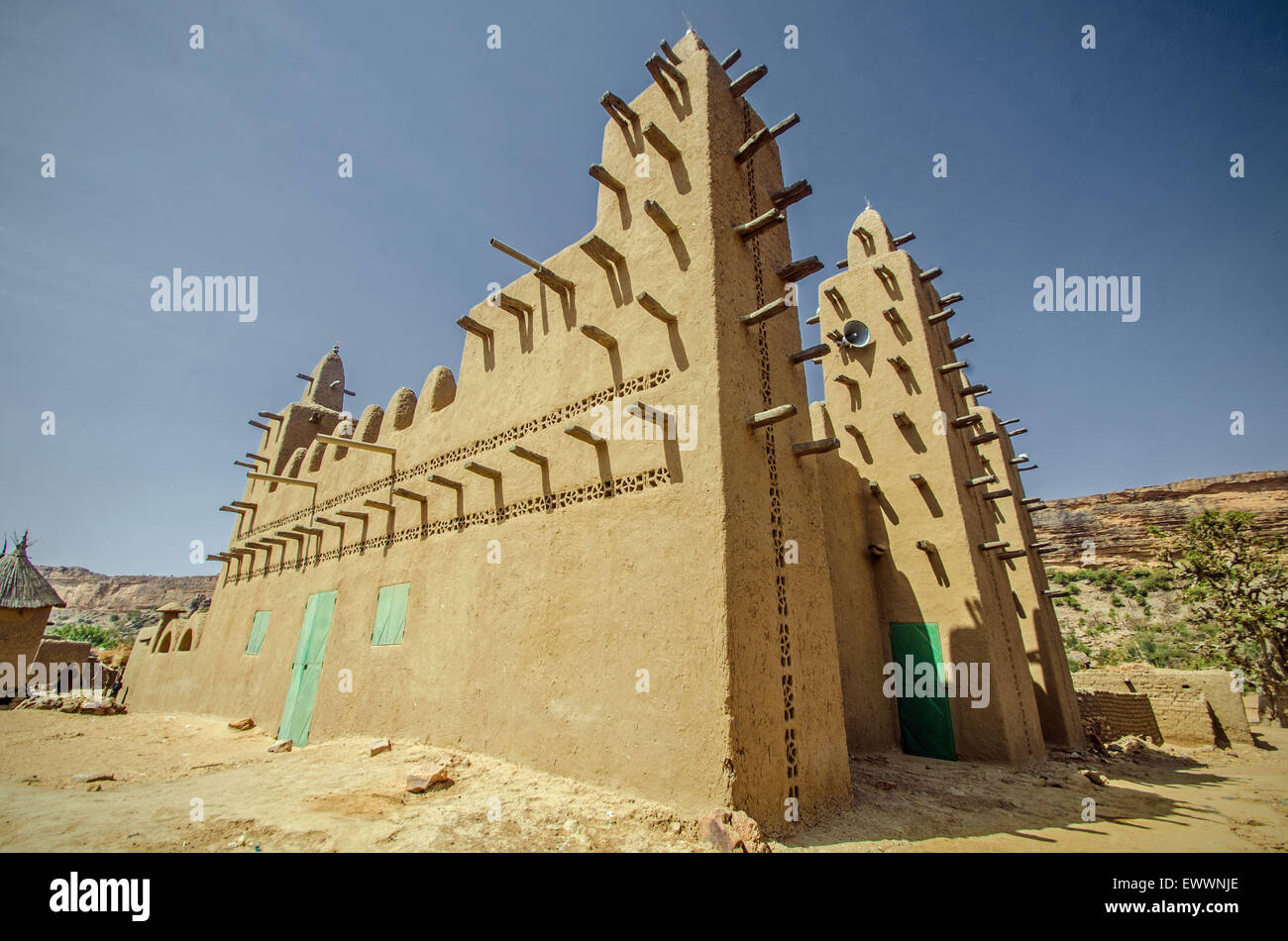 Mosque in Dogon country, Mali - Stock Image
