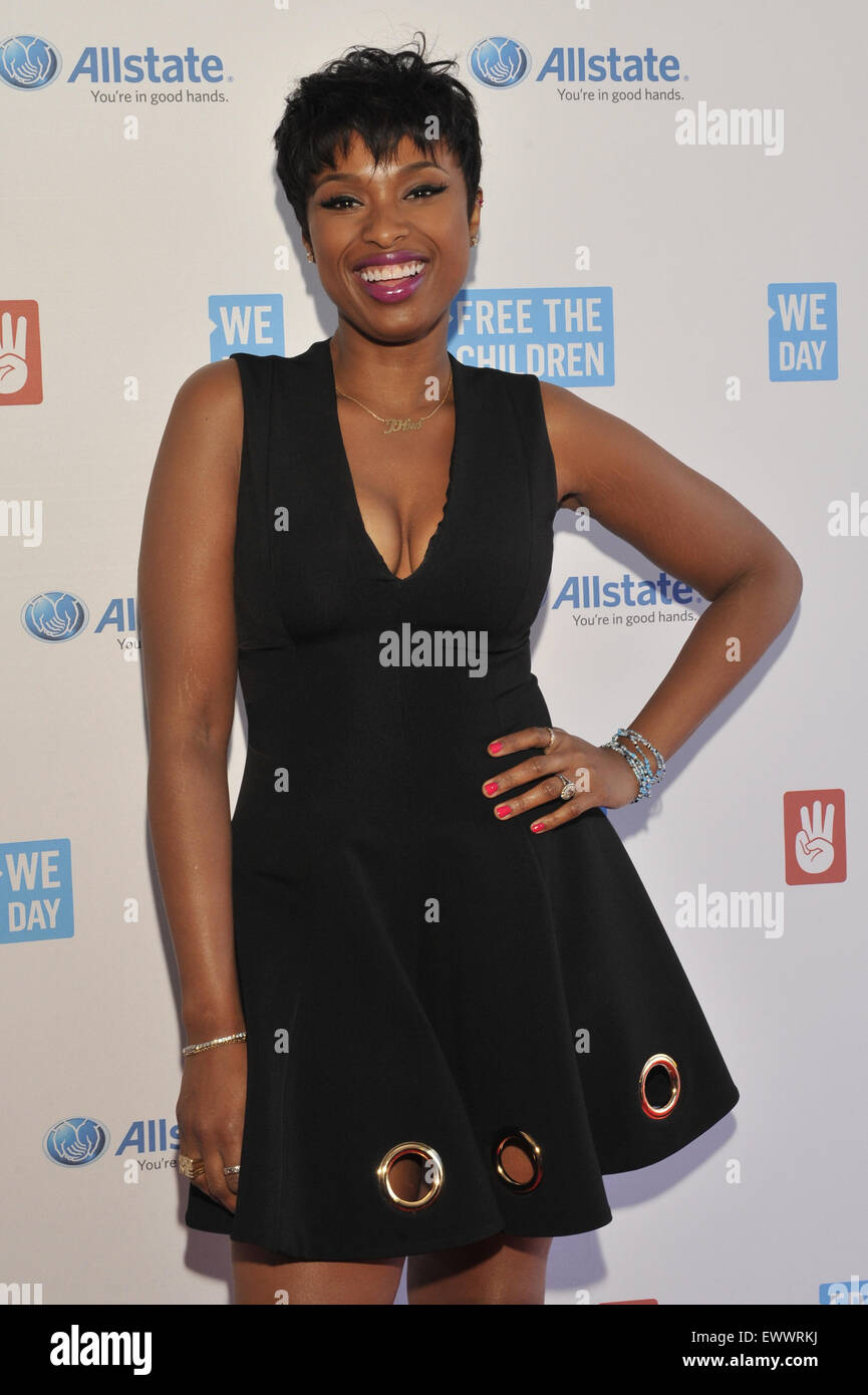 2015 We Day held at the Allstate Arena in Rosemont - Arrivals  Featuring: Jennifer Hudson Where: Chicago, Illinois, Stock Photo