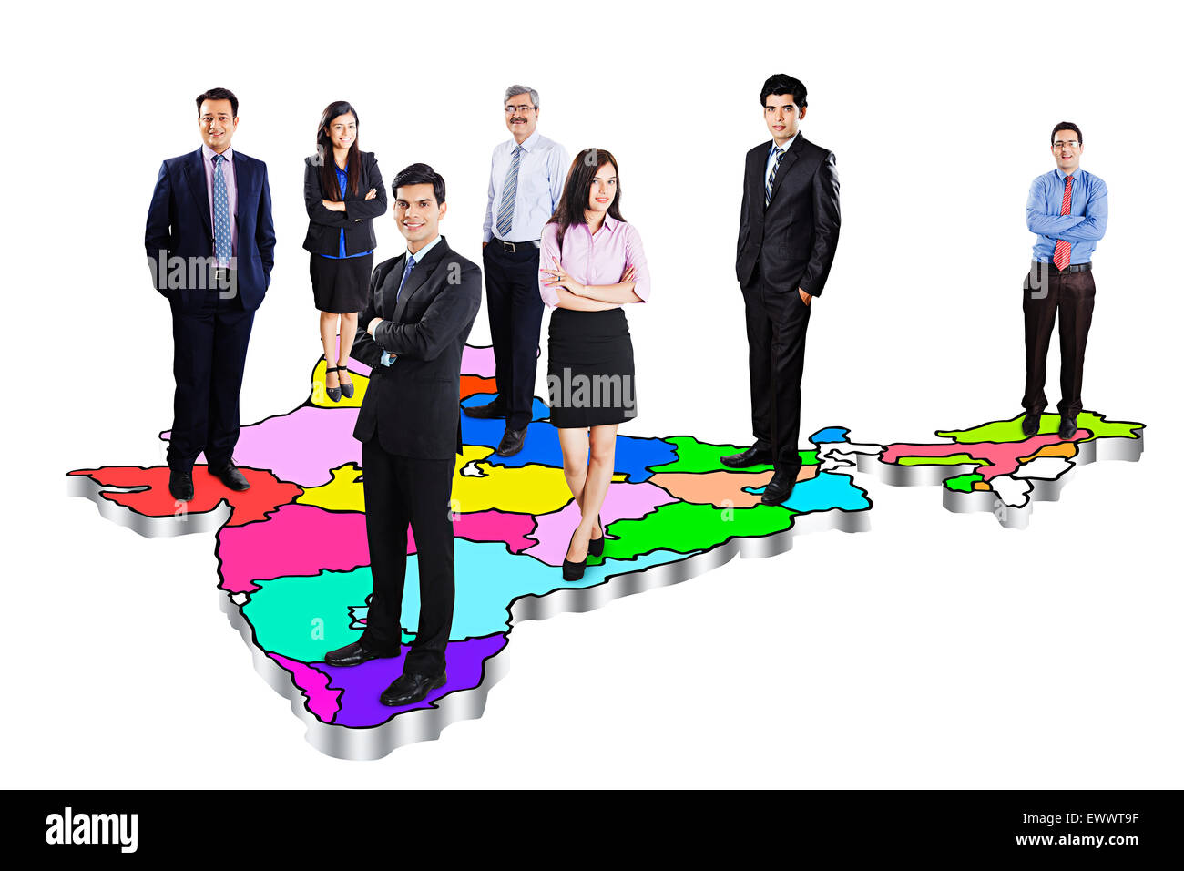 indian Business Group Colleague Partners - Stock Image