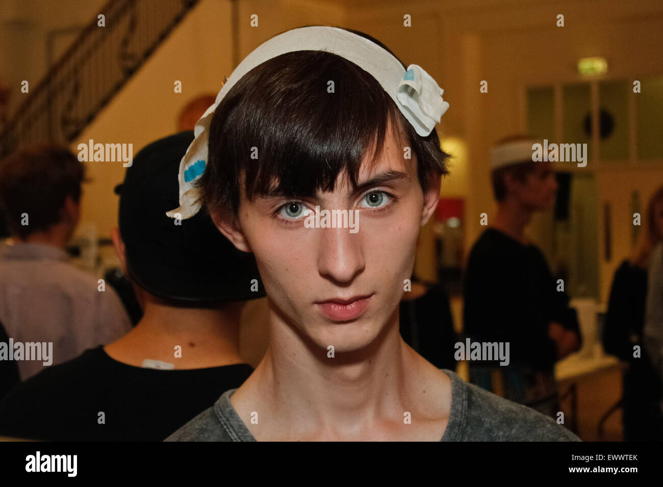 Backstage at J W Anderson London Collections Mens SS16 Stock Photo