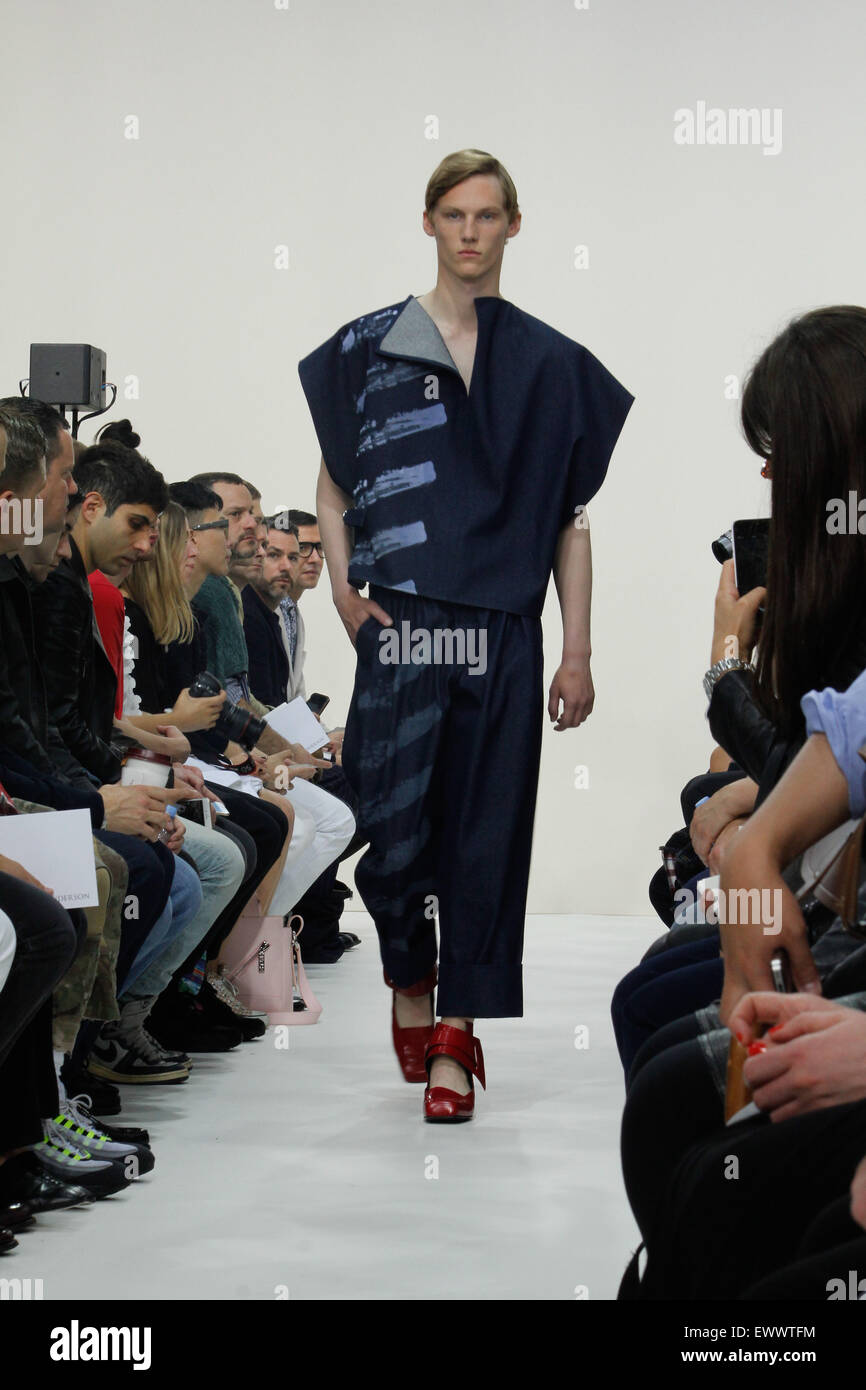 Catwalk at J W Anderson London Collections Mens SS16 - Stock Image