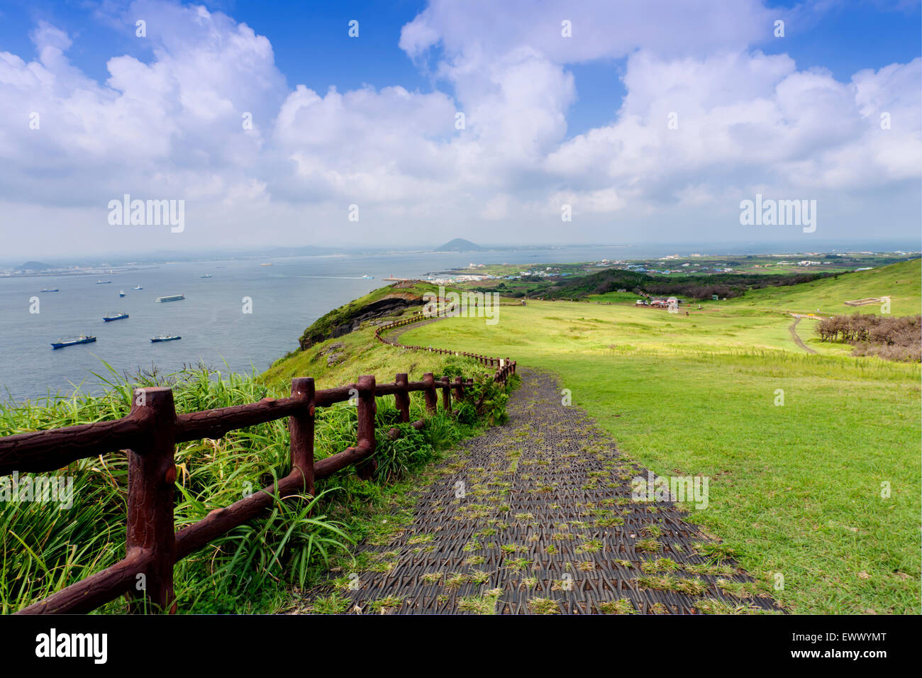Landscape of Jeju Island, South Korea Stock Photo