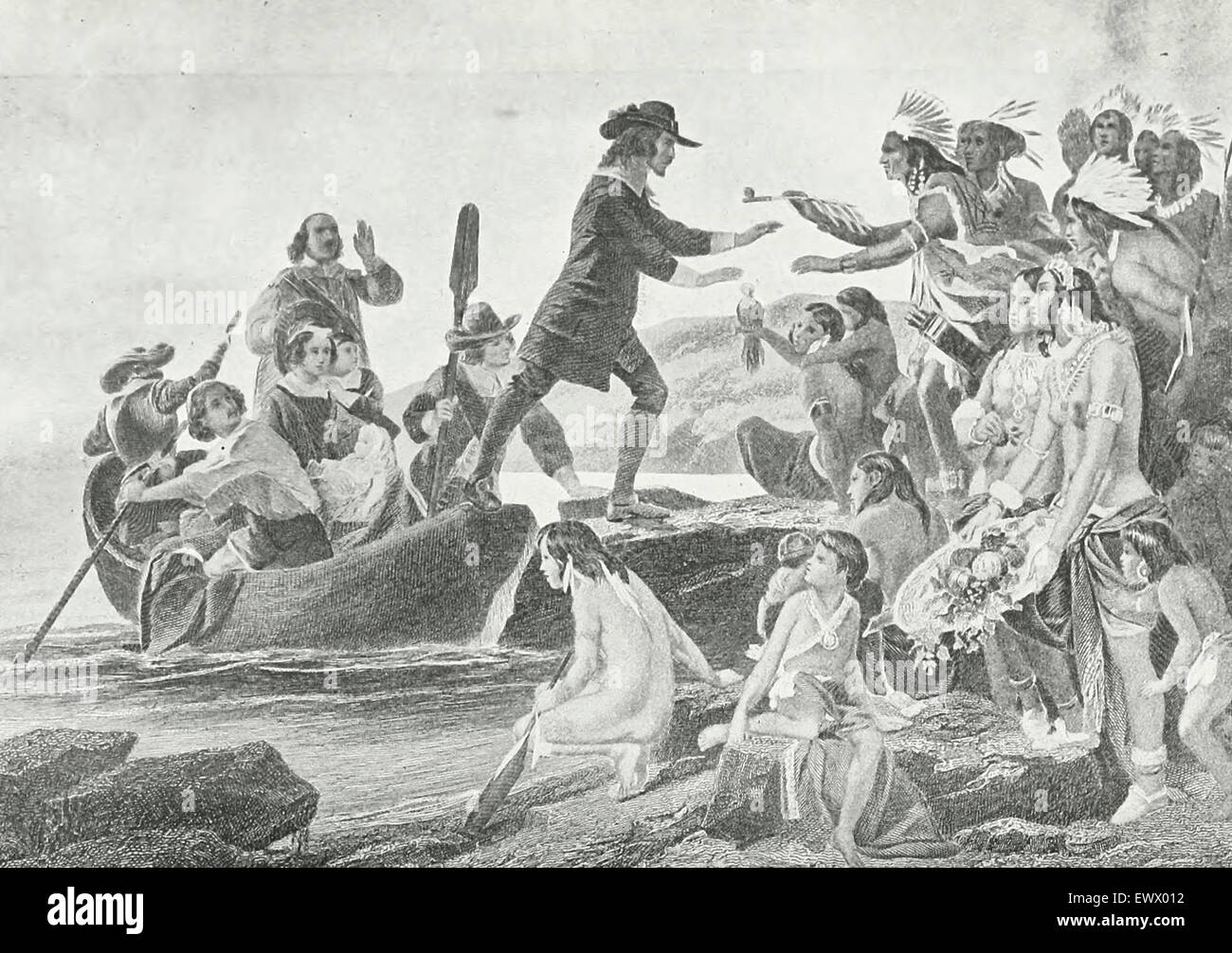 The Landing of Roger Williams in Rhode Island, 1636