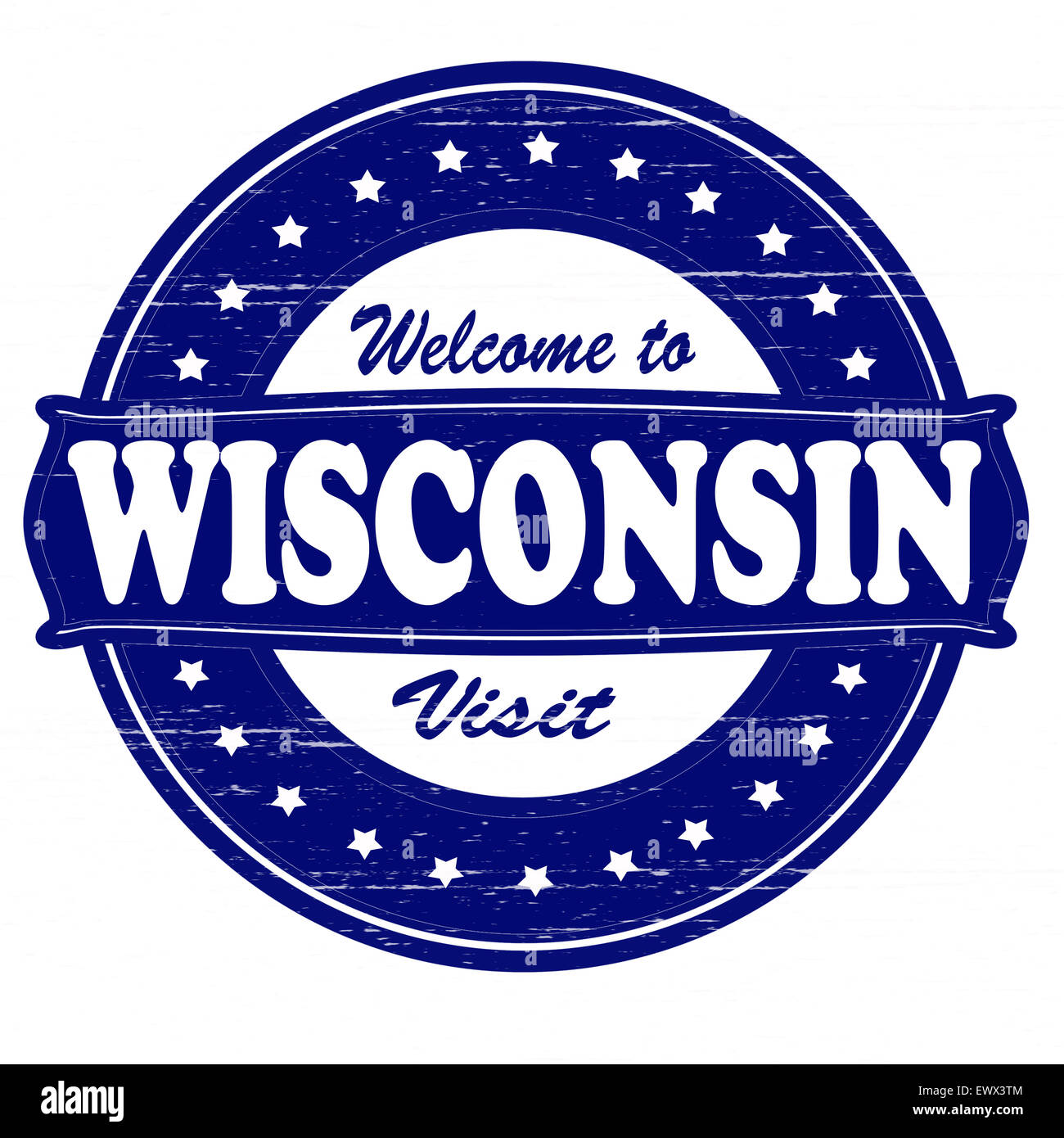 Stamp With Text Welcome To Wisconsin Inside Illustration