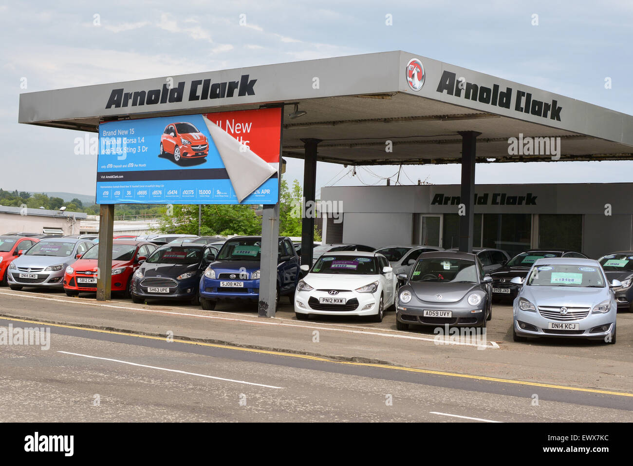 Arnold Clark Vauxhall Ford Car Dealership Milngavie Glasgow Scotland Uk