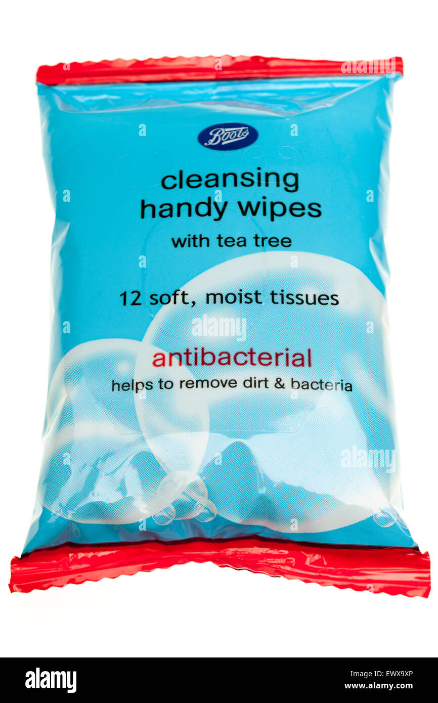 12 antibacterial tissues from Boots chemists - Stock Image