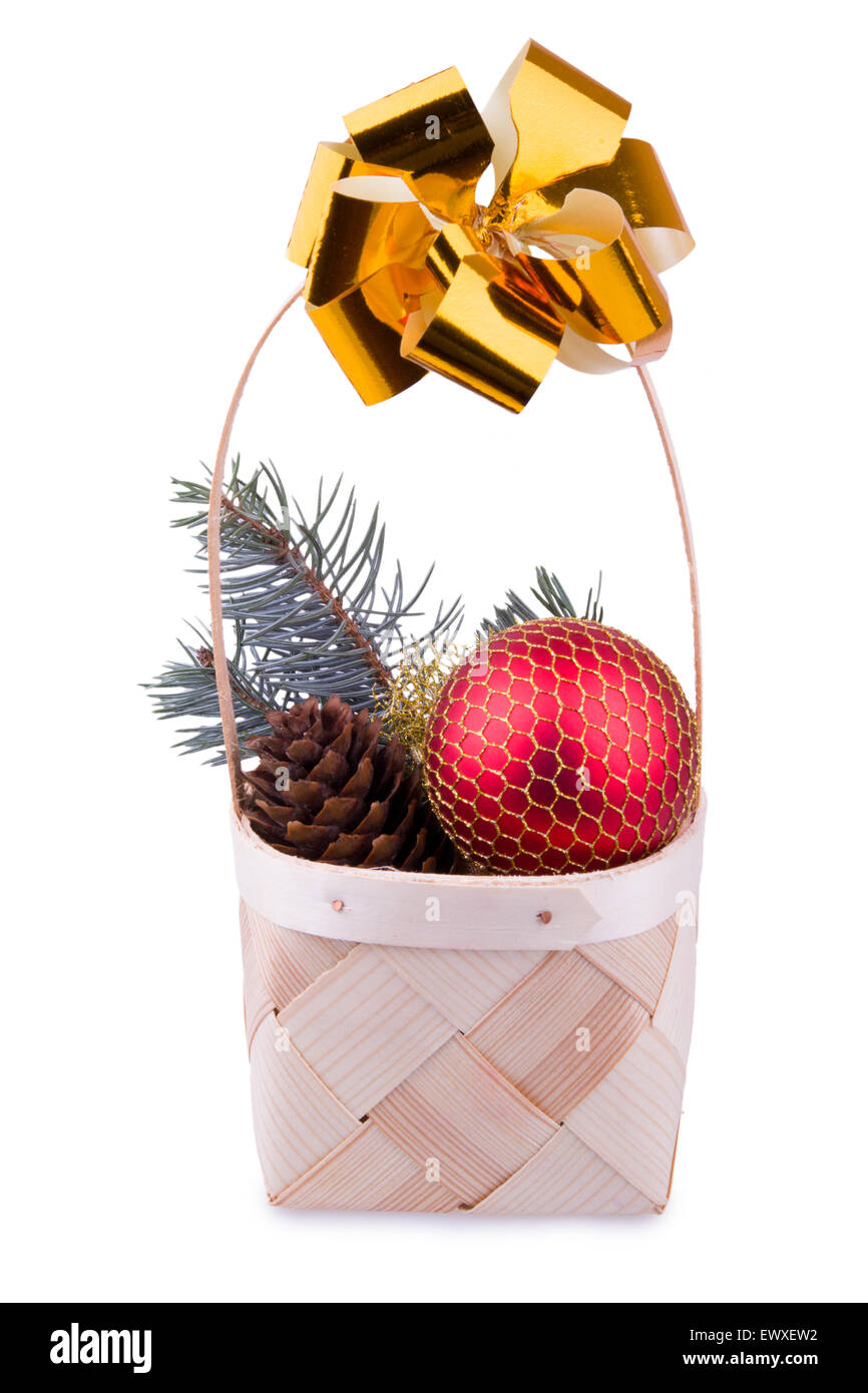Christmas basket - Stock Image