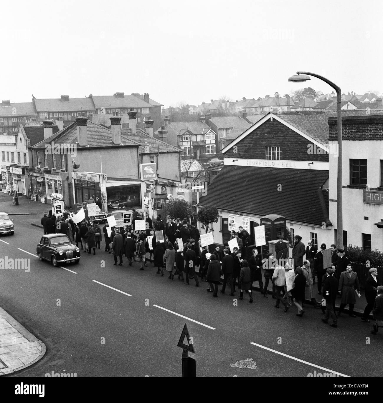 Young socialists demonstrate at a meeting held by Conservative MP for Smethwick, Peter Griffiths in Sutton. 27th - Stock Image