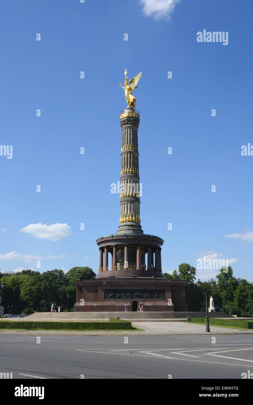 The Victory Column in Berlin. - Stock Image