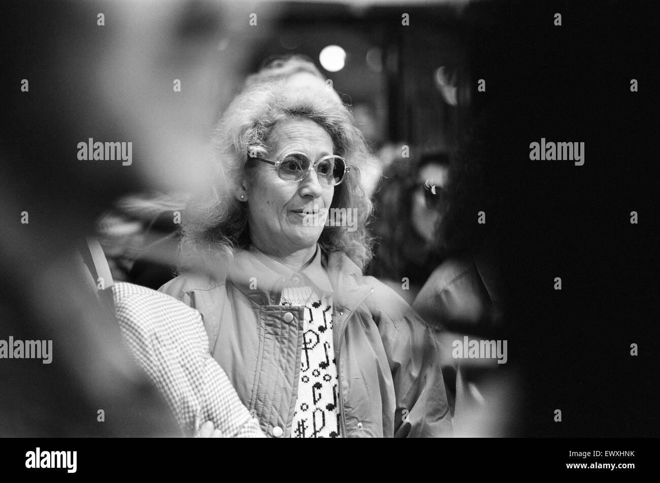 Tributes to John Lennon, on the anniversary of what would have been his 50th birthday, the Cavern Walks Shopping - Stock Image