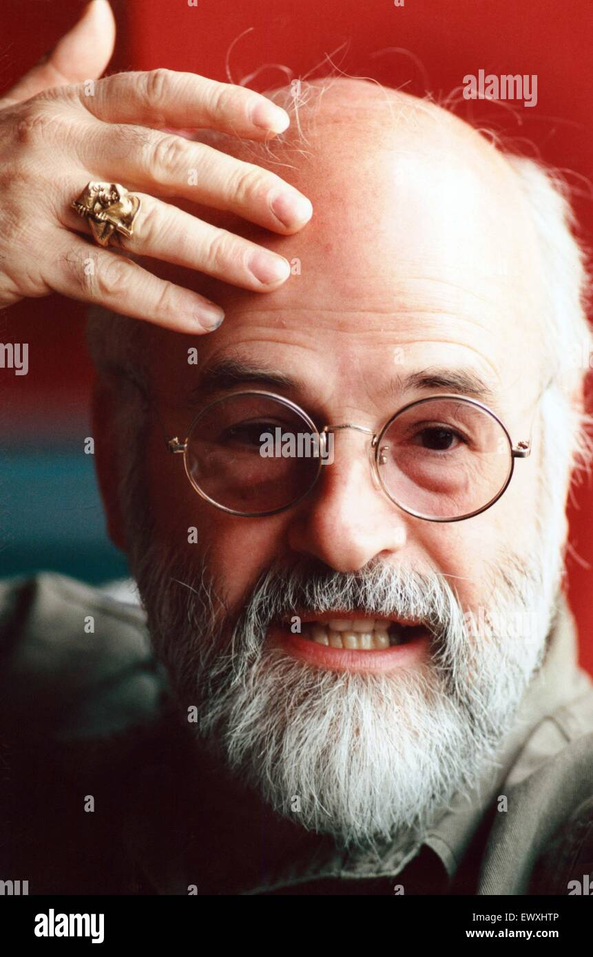 Terry Pratchett, an English author of fantasy novels. 6th June 1996. - Stock Image