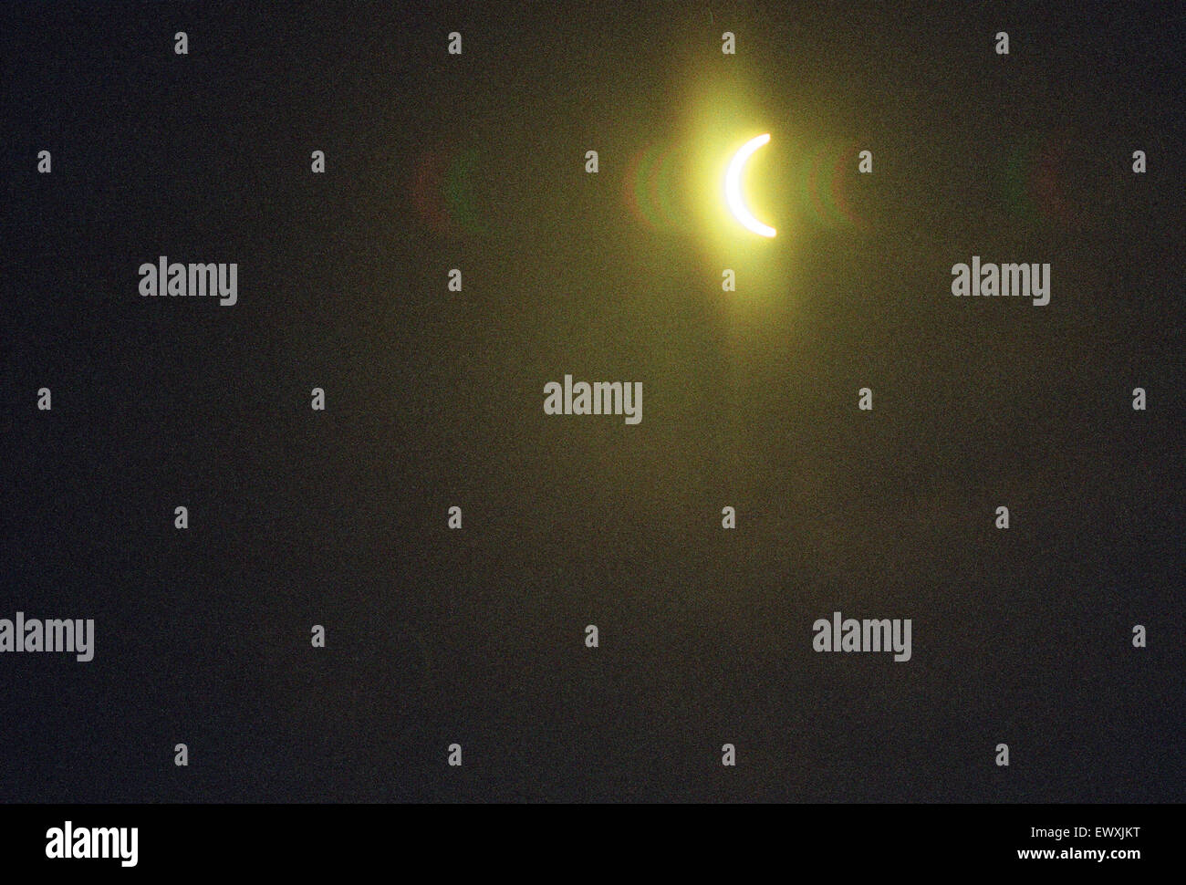 The total solar eclipse seen from the Civic Centre, Reading. 11th August 1999. - Stock Image