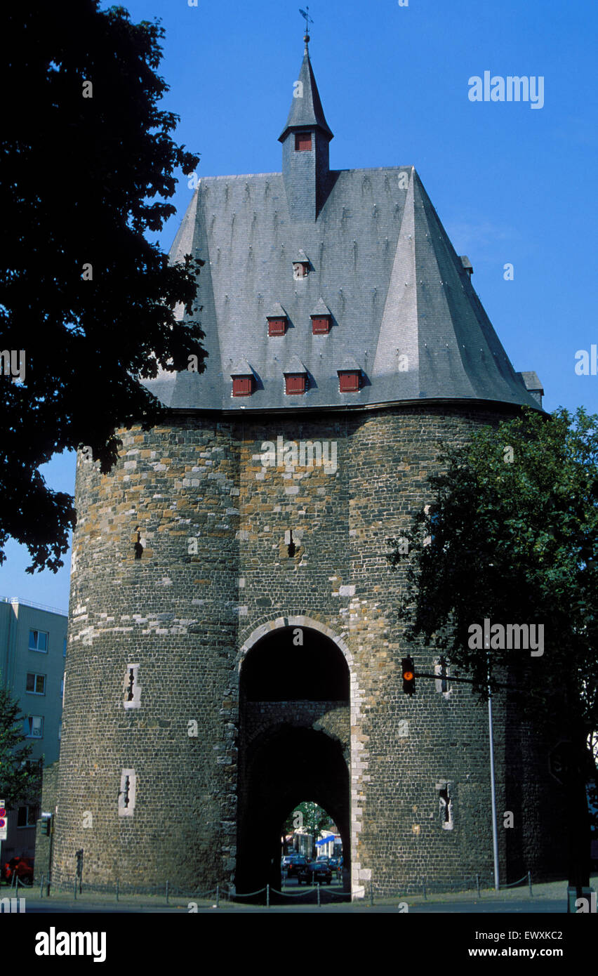 DEU, Germany, Aachen, the Marschier Gate, former citygate of the historic town   DEU, Deutschland, Aachen, das Marschiertor, - Stock Image