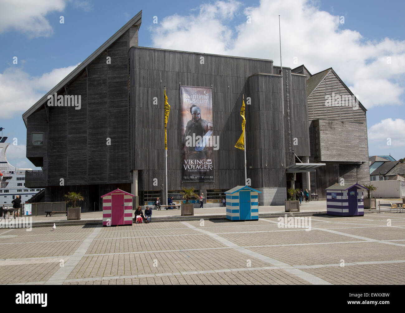 Advert for Viking Voyager exhibition at the National Maritime museum Falmouth, Cornwall, England, UK - Stock Image