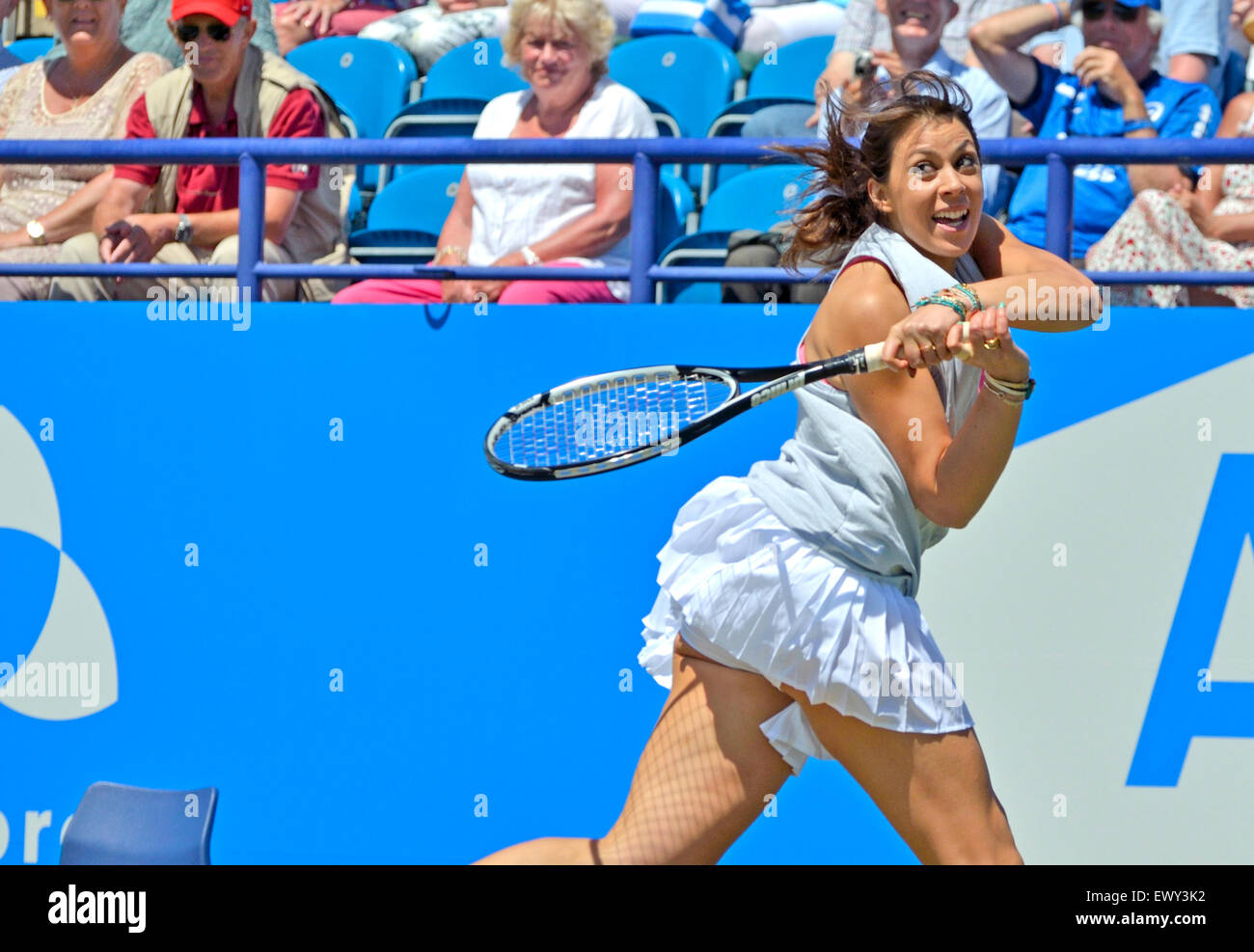 Marion Bartoli (France) playing in the AEGON INTERNATIONAL LEGENDS CHALLENGE, Eastbourne, 2015 - Stock Image