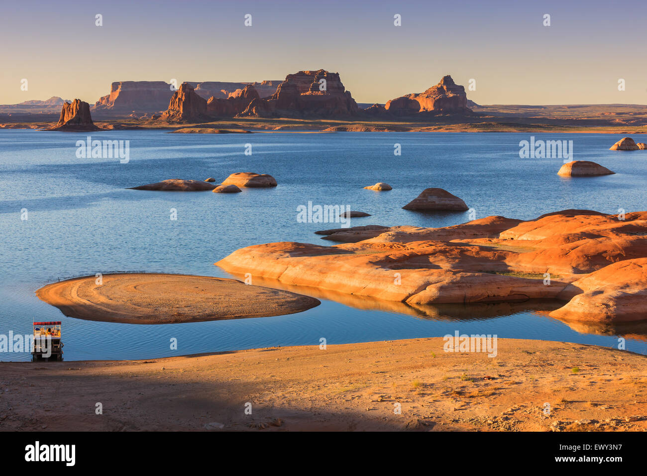 Padre Bay, from Cookie Jar Butte. Lake Powell, Utah, USA Stock Photo