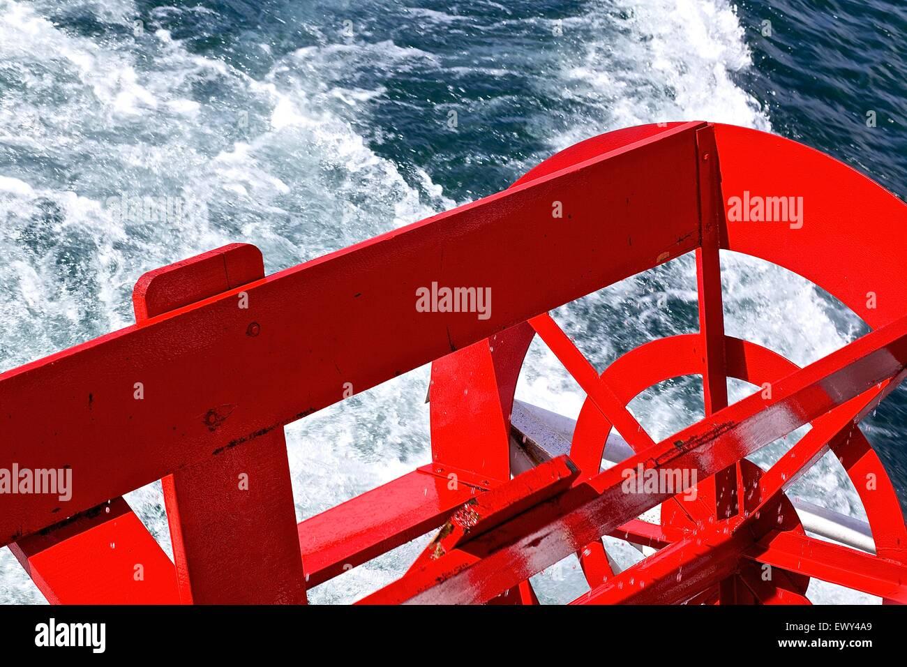 Boat paddle wheel. - Stock Image