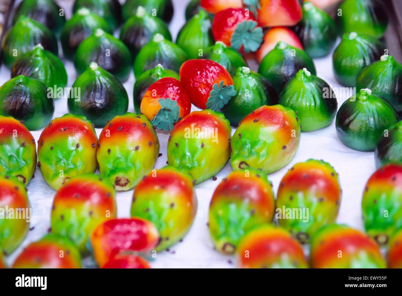 Marzapane Fruits - Stock Image
