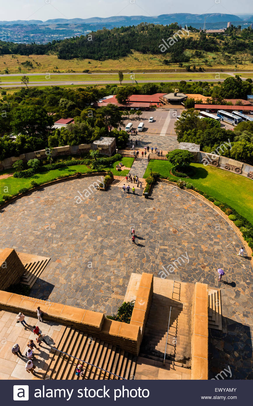 Voortrekker Monument, Pretoria (Tshwane), South Africa. This massive granite structure is prominently located on - Stock Image