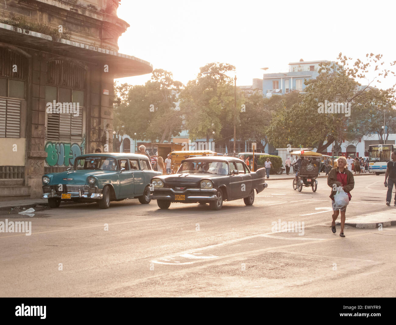 Oldtimer car on the street of Havana, Cuba. - Stock Image
