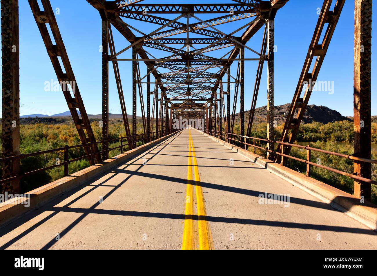 Gillespie Bridge near  Arlington, Arizona, USA - Stock Image